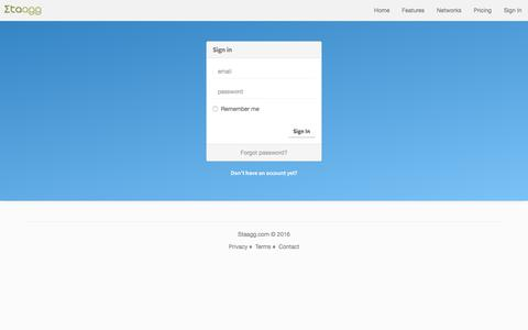 Screenshot of Login Page staagg.com - Staagg - Sign In / Sign Up - captured Sept. 24, 2018
