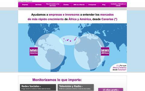 Screenshot of Home Page mmi-e.com - MMI - Media Monitor Internacional - captured Sept. 23, 2014