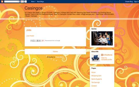 Screenshot of Jobs Page casingos.blogspot.com - Casingos: Jobs - captured Oct. 23, 2014