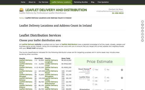 Screenshot of Locations Page leafletdistributiondublin.com - Leaflet Distribution Services in Ireland - Leaflet Delivery Ireland - captured Jan. 27, 2016
