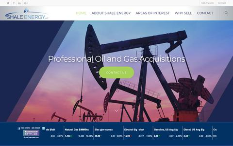 Screenshot of Home Page shaleenergyllc.com - Mineral Leasing and Aquisitions - captured Nov. 15, 2018