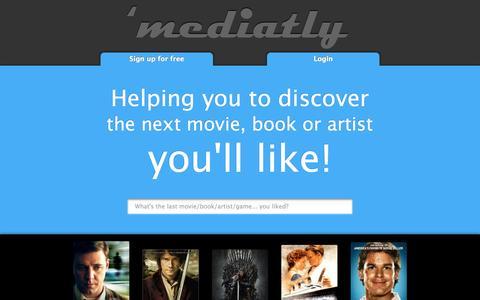 Screenshot of Home Page mediatly.com - Mediatly, the multimedia social network - captured Sept. 30, 2014