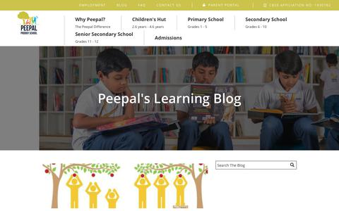 Screenshot of Blog peepalprodigy.com - Blog | Best CBSE schools in Coimbatore | Peepal Prodigy - captured Sept. 27, 2018