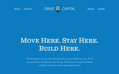 Screenshot of Jobs Page drivecapital.com - Drive Capital - captured June 5, 2017