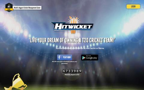 Screenshot of Home Page hitwicket.com - Hitwicket - Free Online Cricket Management Game - captured Aug. 31, 2015