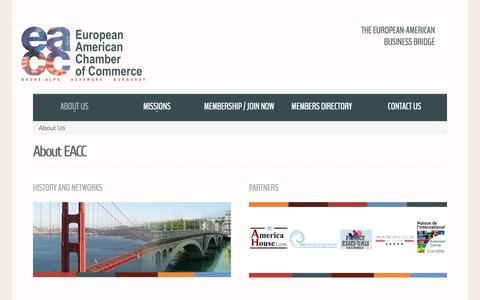 Screenshot of About Page eacc-ra.com - About EACC - captured Oct. 3, 2014