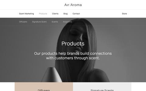 Screenshot of Products Page air-aroma.com - Products - Air Aroma - captured Nov. 9, 2016
