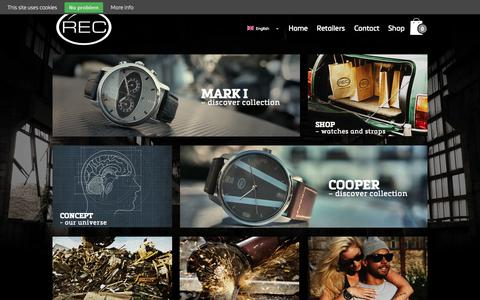 Screenshot of Home Page recwatches.com - REC Watches   Recycling good stories - captured Sept. 30, 2014