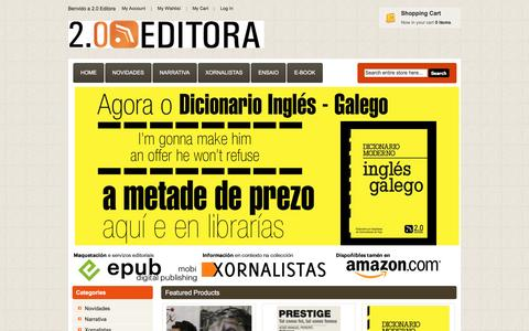 Screenshot of Home Page 20editora.com - 2.0 Editora - captured June 1, 2016