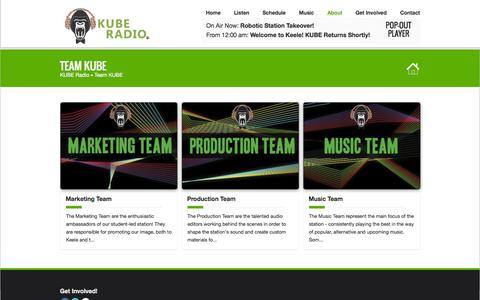 Screenshot of Team Page kuberadio.com - Team KUBE | KUBE Radio - captured Sept. 30, 2014