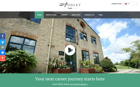 Screenshot of Jobs Page audleytravel.com - Jobs in Travel | Travel Specialist Jobs & Careers | Audley Careers - captured Dec. 9, 2017