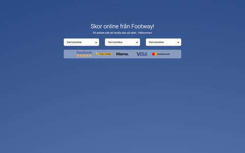 Screenshot of Home Page footway.se - Skor Online - Störst utbud av skor på nätet | FOOTWAY.se - captured Dec. 9, 2018