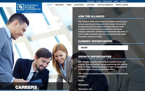 Screenshot of Jobs Page cbcalliance.com - Careers - Coldwell Banker Commercial Alliance - captured Dec. 5, 2015