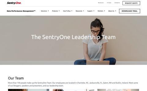 Screenshot of Team Page sentryone.com - Leadership Team | SentryOne - captured July 12, 2018