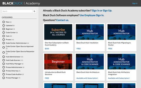 Black Duck Academy