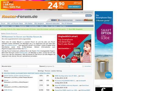 Screenshot of Home Page router-forum.de - Router-Forum.de - Fragen, Antworten, Probleme und Lösungen rund um Router - captured Sept. 19, 2014