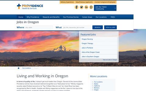 Screenshot of Home Page providence-oregon.jobs - Providence Oregon Jobs - captured Sept. 3, 2015