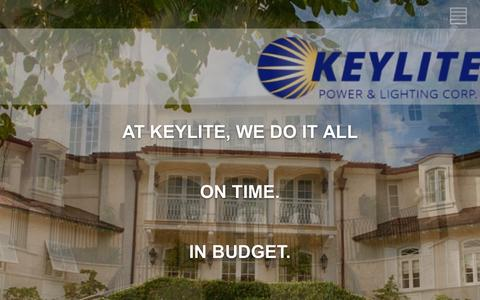 Screenshot of Home Page teamkeylite.com - Keylite Power & Lighting Corp. | Start Strong, Finish Strong! - captured Feb. 12, 2016