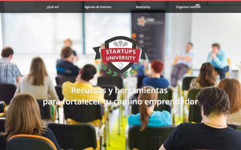 Screenshot of Home Page startupsuniversity.com - Startups University. ¡13/05: Programación Express para CEO's! Anotate Gratis - captured Sept. 4, 2015