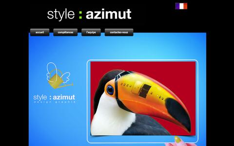 Screenshot of Home Page stylazimut.com - Style Azimut design graphik et communication - captured Oct. 9, 2014