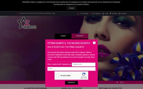 Screenshot of Login Page stellazeta.com - Accesso Cliente - captured Oct. 20, 2018