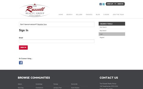 Screenshot of Login Page thebostonmls.com - Sign In - captured Oct. 6, 2014