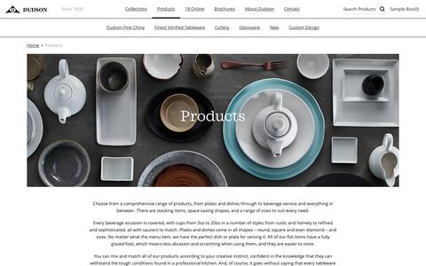 Screenshot of Products Page dudson.com - Products - Dudson - captured Oct. 9, 2018