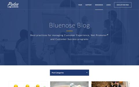Screenshot of Blog bluenose.com - Blog | Learn about Net Promoter ® and the Customer Landscape - captured April 29, 2016