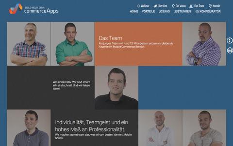 Screenshot of Team Page commerceapps.de - Die Mobile Commerce Macher und die Mobile Commerce Experten von commercerApps - captured July 19, 2016