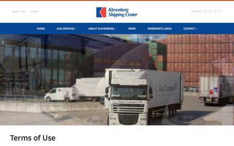 Screenshot of Terms Page klevenberg.com - Terms of Use - Klevenberg Shipping Center - captured Feb. 12, 2016