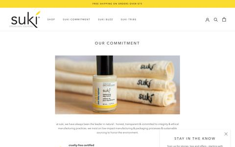 Screenshot of About Page sukiskincare.com - our commitment – SukiSkincare - captured July 13, 2019