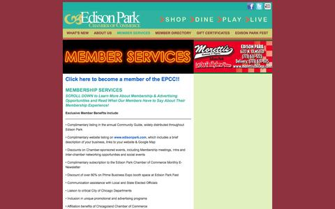 Screenshot of Services Page edisonpark.com - Edison Park | Services - captured Oct. 2, 2014