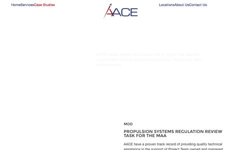 Screenshot of Case Studies Page aace.co.uk - Projects Archive - AACE - captured Nov. 20, 2016