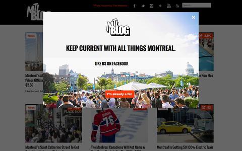 Screenshot of Press Page mtlblog.com - Montreal News    MTL Blog - captured Sept. 18, 2014