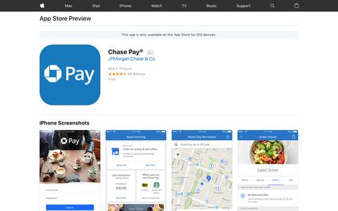 Chase Pay® on the AppStore