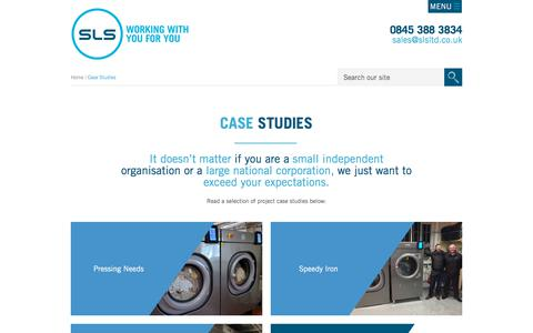 Screenshot of Case Studies Page professionallaundryequipment.co.uk - Case Studies - Solent Laundry Solutions Ltd - captured Sept. 25, 2018