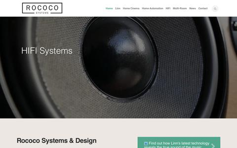 Screenshot of Home Page rococosystems.com - Linn Audio Hi-Fi Dealers | Home Cinema & Automation - captured Oct. 19, 2018
