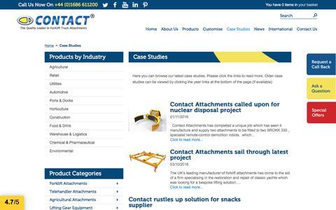 Screenshot of Case Studies Page forklift-attachments.co.uk - Latest Case Studies | Forklift Attachments - captured Nov. 11, 2016