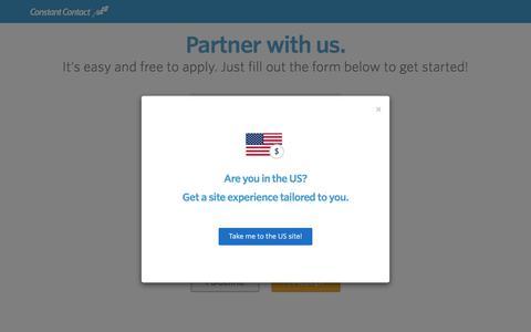 Partner Application Form - Constant Contact