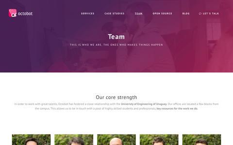 Screenshot of Team Page octobot.io - Octobot - Team - captured Dec. 14, 2016