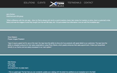 Screenshot of Testimonials Page xternsoftware.com - Xtern Software, Inc. - Testimonials - captured Aug. 16, 2016