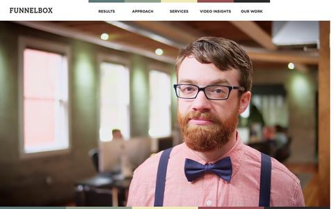 Screenshot of Home Page funnelbox.com - Video Production Portland -Funnelbox - captured Sept. 12, 2015