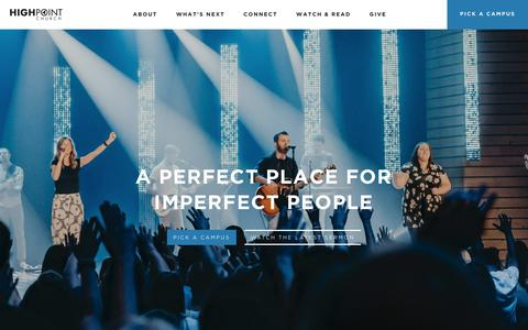 Screenshot of Home Page highpointmemphis.com - Highpoint Church in Memphis, TN | Love God. Love People. Make Disciples. - captured Sept. 28, 2018