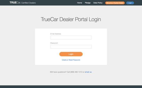 Screenshot of Signup Page truecar.com - Login - TrueCar Dealer Network - captured July 2, 2016