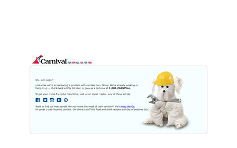 Carnival Cruise Line - Temporarily Unavailable
