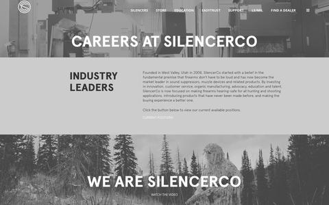 Screenshot of Jobs Page silencerco.com - Careers At SilencerCo - SilencerCo - captured April 2, 2016