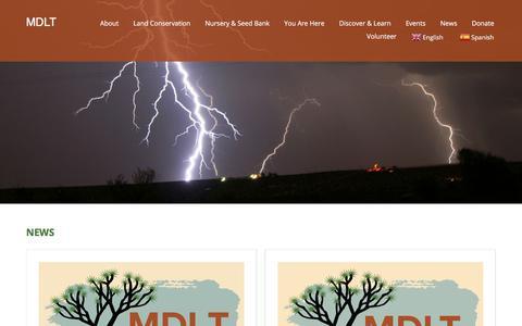 Screenshot of Press Page mdlt.org - News & Blog - MDLT - captured July 9, 2018