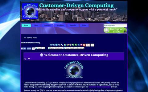 Screenshot of Home Page customerdrivencomputing.net - Customer-Driven Computing - Home - captured Jan. 27, 2015