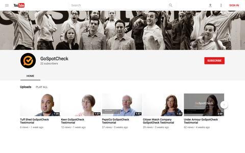GoSpotCheck - YouTube