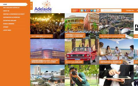 Screenshot of Home Page adelaideconvention.com.au - Home | Adelaide Convention Bureau - captured Oct. 4, 2014